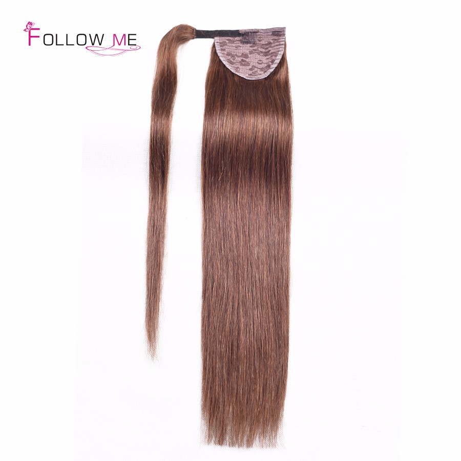 2016 Fashion Tail Straight Remy Human Hair Tails All Colors Ponytail Human Hair Clip In Human Hair Drawstring Ponytail Extension