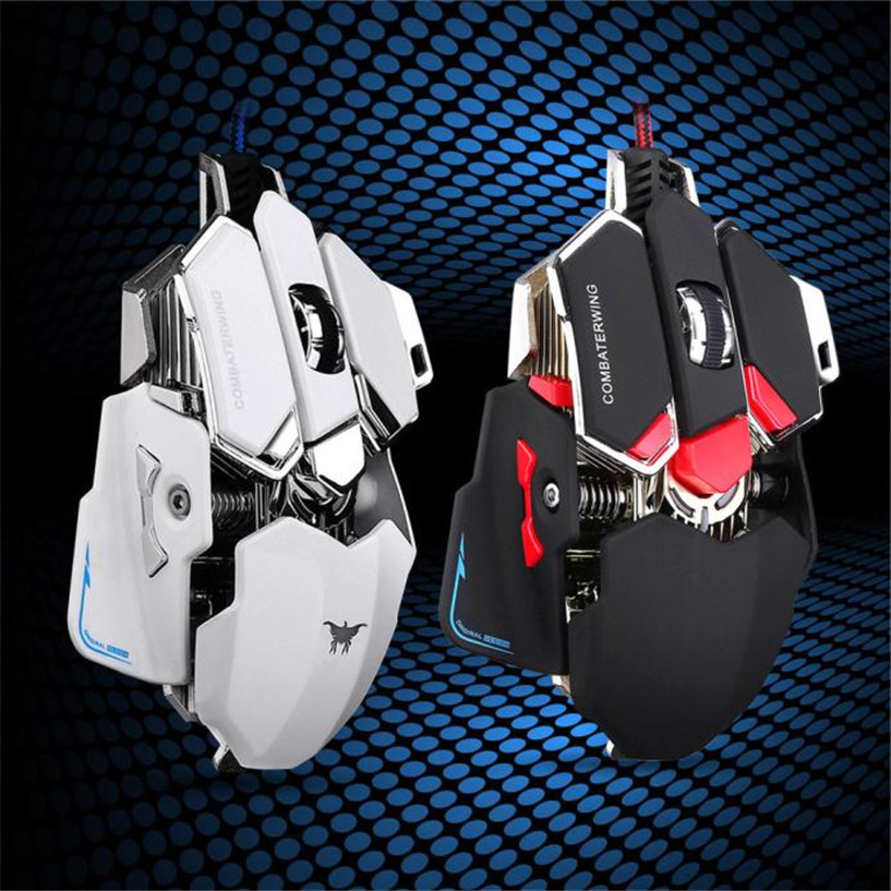 Hot Sale Mecall 4800DPI Optical USB Wired Gaming Mouse Mice For Windows Mac OS PC factory price Dec28(China (Mainland))