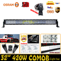 420W 5D 32 ForOsram Combo Beam Car Lights LED Work Light Bar Straight External Off road