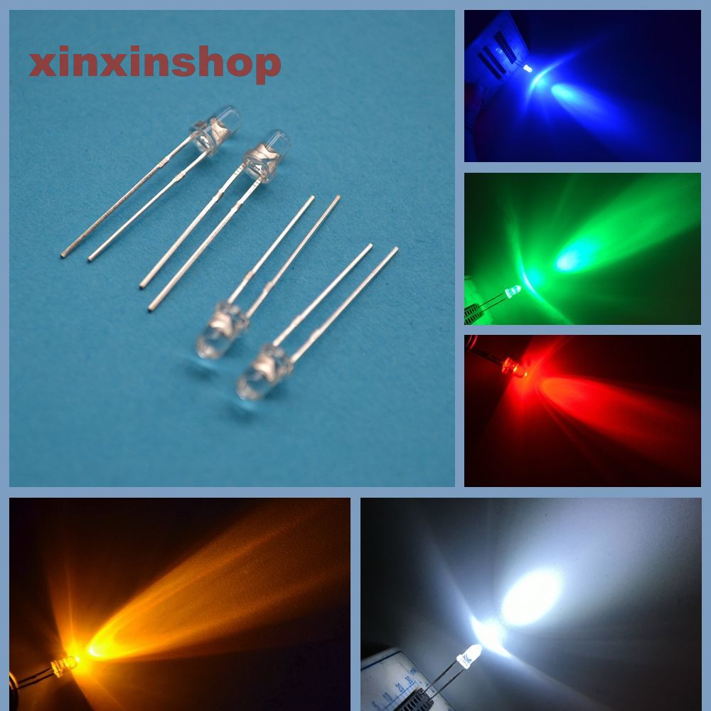 3mm Round Mix packing 100X white red yellow blue green emitting diode Assortment Kit Ultra Super Bright Light Bulb Led Lamp New - xinxinshop store