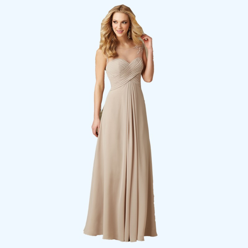 2016 champagne cheap long bridesmaid dresses under 100 a for Plus size champagne colored wedding dresses