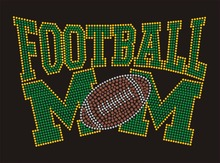 Buy Green Football mom crystal transfer T shirt wholesale price for $39.00 in AliExpress store