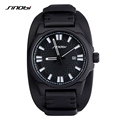 SINOBI Military Mens Geneva Quartz Watches for Luxury Brand Leather watchband Waterproof Males Sports Wristwatch Relojes