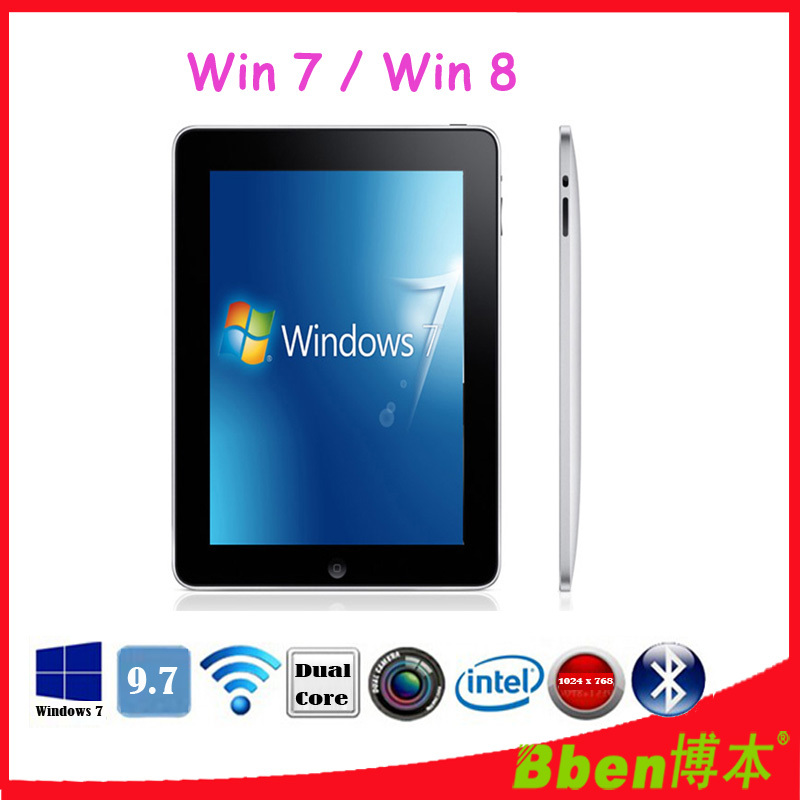 Free shipping ! 9.7'' Intel CPU Multi touch game tablet pc Windows XP Tablet pc 3G phone tablet pc dual core tablet support GPS(China (Mainland))