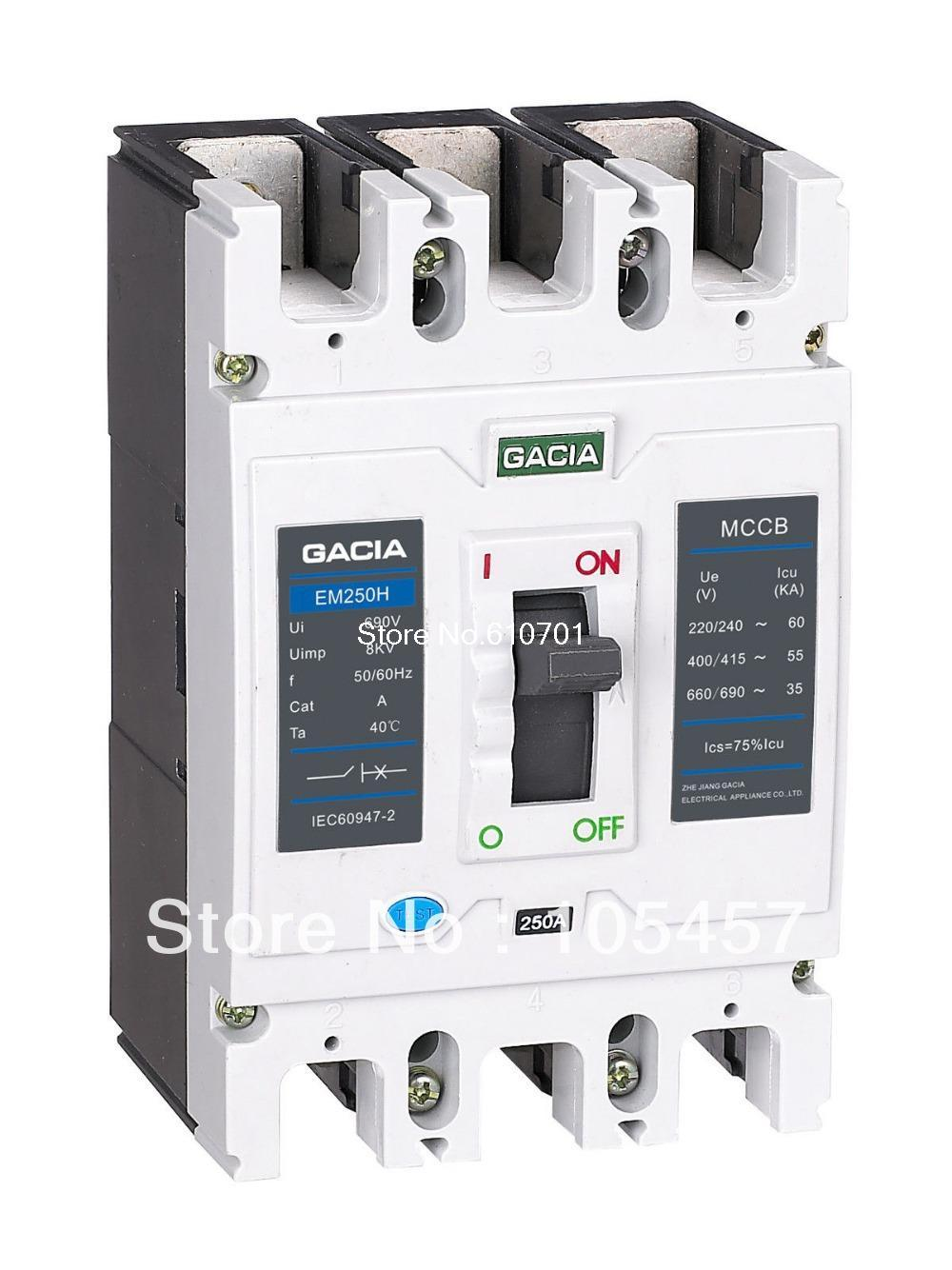 Molded Case Circuit Breaker(MCCB) 125/160/180/200A 3P 250A Frame L(common) Type<br><br>Aliexpress