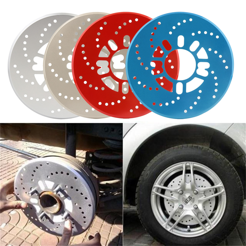 2016 New 4 Colors Automotive Wheel Disc Brake Cover for Car Modification Brakes Sheet Auto Wheels Plate Rear Drum Brakes(China (Mainland))