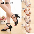 2017 new High Quality Latin Dance Shoes for Women Ladies Girls Tango Salsa shoes 7cm 5