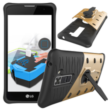 Buy Protective Phone Case LG K7 Case Shockproof Armor Hard Back Cases Cover Plastic Silicon Cover Coque Stand Style Shell Capa for $4.73 in AliExpress store