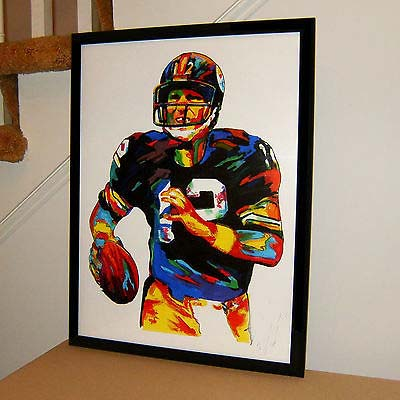 TOP Original abstract ART oil painting # Terry Bradshaw, Pittsburgh Steelers, Quarterback, Football - hand painted OIL painting(China (Mainland))