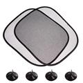2pcs Lot 44 36cm Black Car Sun Shade Side Rear Window Sunshade Cover Visor Shield Screen