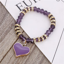 ZOSHI Romantic Vintage Bracelets For Women Heart Pendant Bracelets with bling crystal Beads Fit Pan Bracelets Jewelry(China)