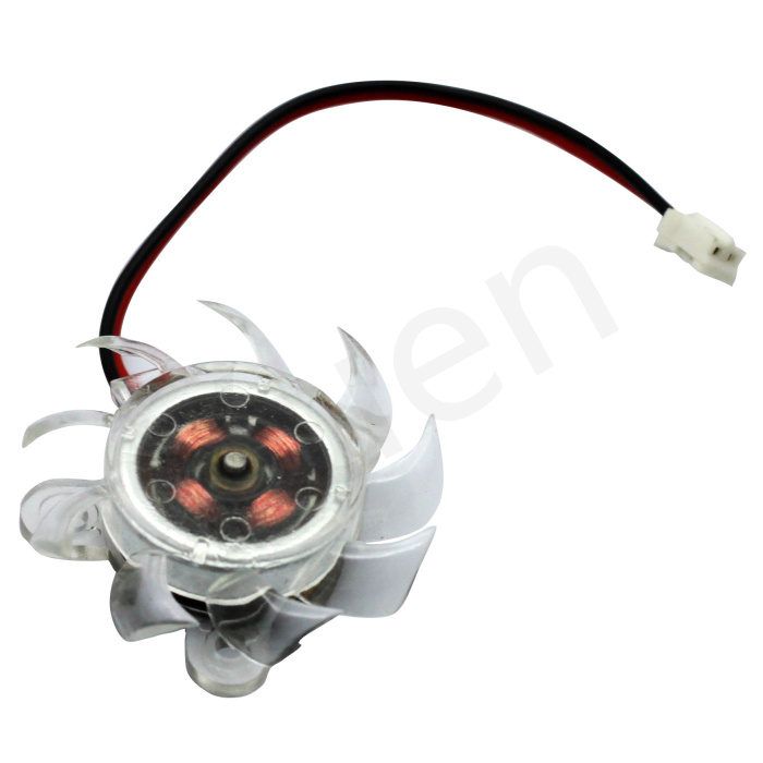 Welcoming 1PC FREE SHIPPING PC VGA Video Graphics Card Cooler Cooling Fan 40mm 2pin connector #FS019(China (Mainland))