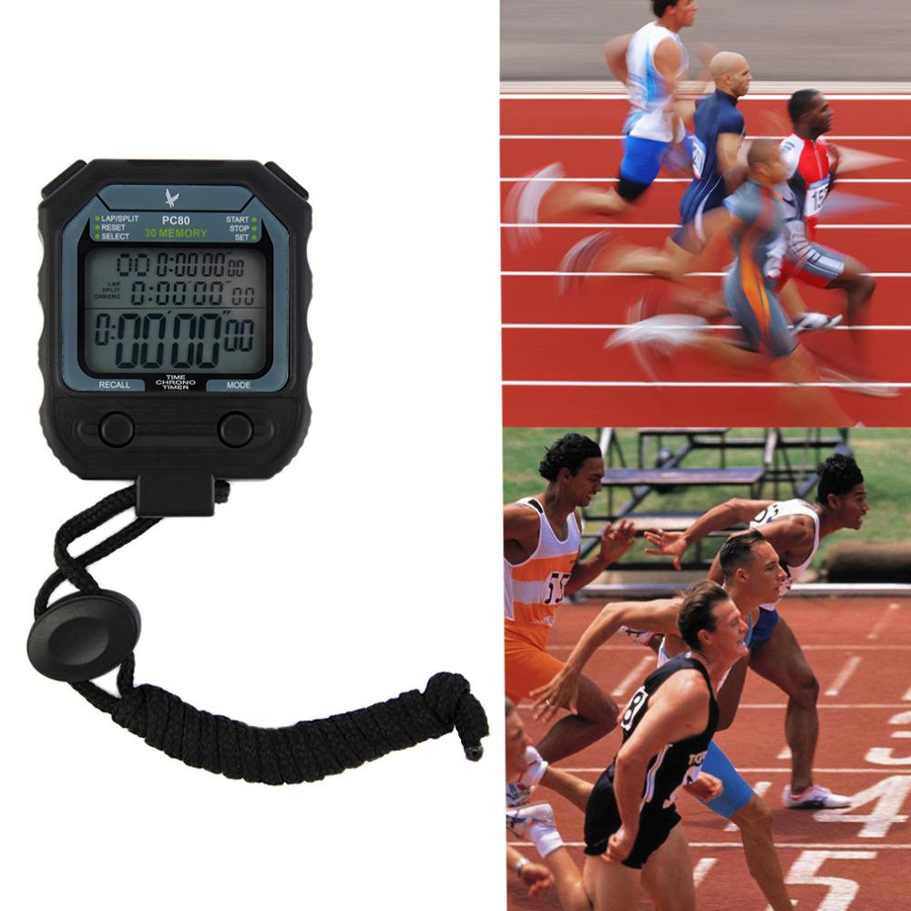 3 Row 30 Laps Handheld Digital Chronograph Dual Split Recallable Memory Athletics Stopwatch Sport Running Timer new<br><br>Aliexpress