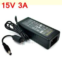 15V 3A AC DC Adaptor 45W switching power supply charger 15V3A 5.5*2.5/5.5*2.1 mm free shipping(China (Mainland))