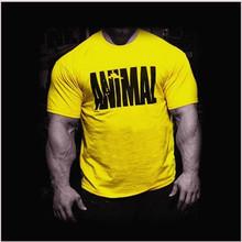 Nuevo 2017 gimnasio oros tops para los hombres de manga corta de algodón camiseta animal de la manera camisa del músculo culturismo camiseta gimnasios clothing(China (Mainland))