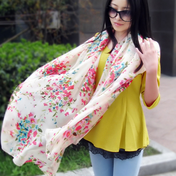 Silk scarf silk long design spring and autumn mulberry silk scarf broadened sunscreen cape air conditioning beach