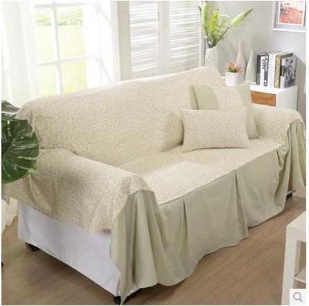 S v fashionable american style sofa towel green floral - Telo copridivano ikea ...