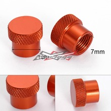 Hot  Aluminum Tire Tyre Wheel Pressure Valve Stem Caps Tire Screw Dust Cover  Motocycle  High Quality For All KTM motorcycle(China (Mainland))