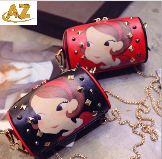 2015 new fashion handbag chain rivet bag printing Shoulder Bag Messenger  -  Shenzhen AZ trading Co., Ltd store