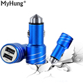 Portable Bullet 2 1A 1A Usb Car Charger For Iphone 6s Samsung Galaxy S6 Andriod Promotion