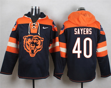 Chicago Bears Jay Cutler Brandon Marshall Gale Sayers Dick Butkus Brian Urlacher customizable Sweater hoodies any name number(China (Mainland))
