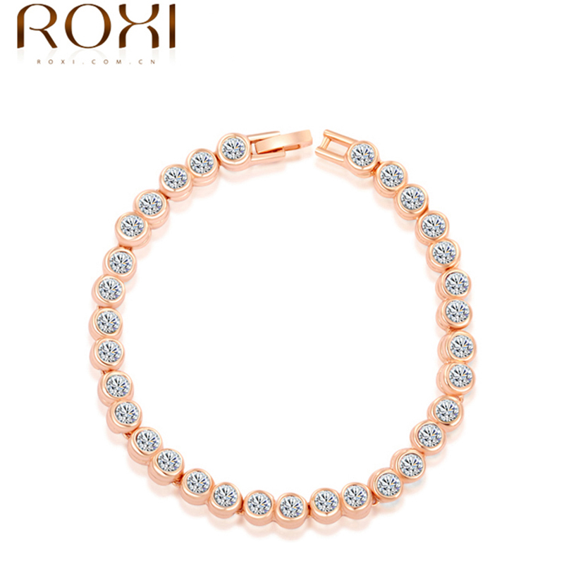 ROXI fashion new arrival, genuine Austrian crystal,Delicate Ms dinner Gold plated Bracelets, Chrismas /Birthday gift,2060005830(China (Mainland))
