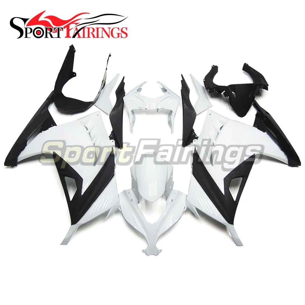 Full Fairings Kit For Kawasaki Ninja 300 13 14 EX300R 2013 2014 Injection Motorcycle ABS Plastic Body Frames Kit White Black New(China (Mainland))