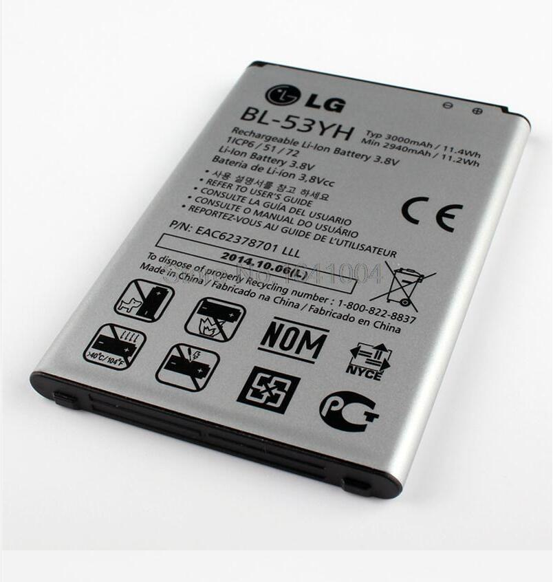 Гаджет  NEW 100% Original Replacement Battery For LG G3 F400 F460 D858 D830 VS985 BL-53YH BL53YH 3000mAh None Бытовая электроника