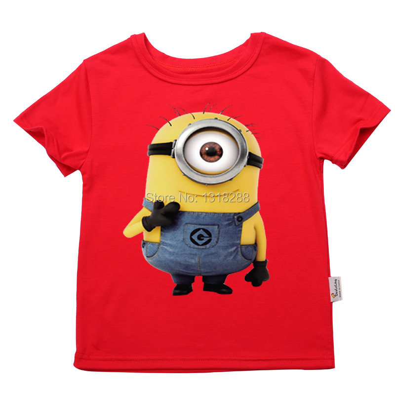 Baby Despicable HOT 2016 Summer Boys T shirt Kids Tops Cartoon minions Pattern Girls T-shirt Clothes Children shirts - and Store store