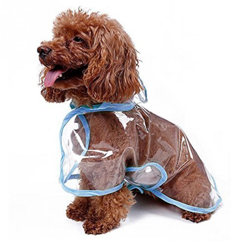 New Waterproof Pet Dog Puppy Cat Rain Coat Clothes Pet Hooded Jacket Rainwear PE Film Make Your Pet Dog Fashion and Cozy(China (Mainland))