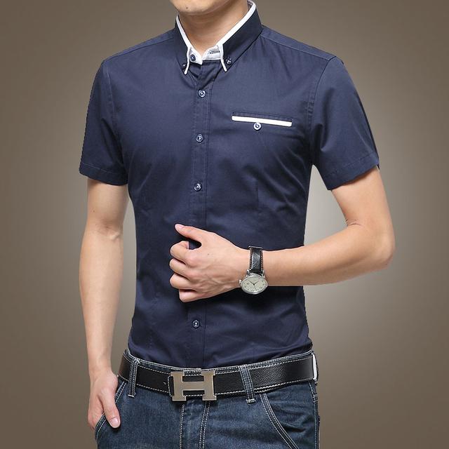 Mens short sleeve casual dress shirts south park t shirts for Mens short sleeve dress shirts slim fit