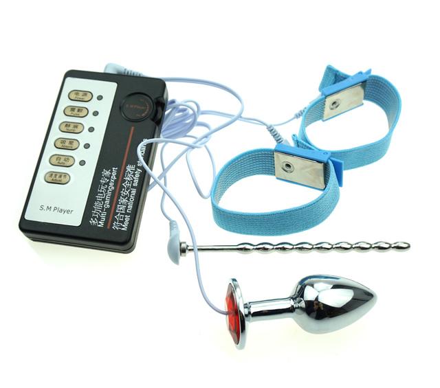 Электро секс медицинские тематические игрушки пенис кольцо-мужчины целомудрие звук ...