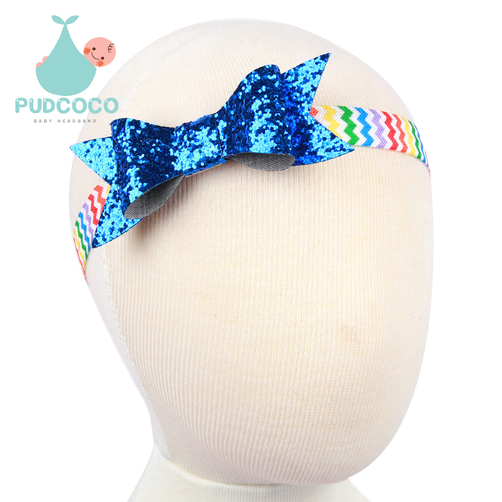 Baby Grils Sequin Hair Bows Headband Toddler Infant Glitter Elastic Headwear Kids Hair AccessoriesОдежда и ак�е��уары<br><br><br>Aliexpress