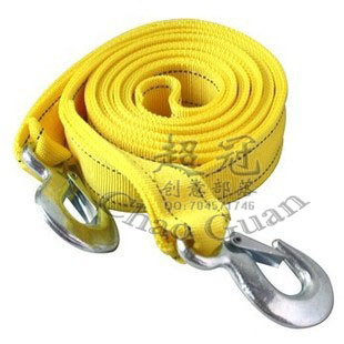 Car trailer rope 3 meters 3 4 meters 5 double layer thickening version of pulling rope traction belt trailer hook
