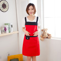 Pure water and oil proof kitchen sleeveless apron Home Furnishing waterproof overalls random colour