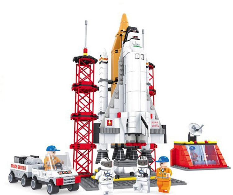 Space Shuttle Launching Base Ausini Building Blocks Educational Bricks Hot Toys Children Model Kits Lego Compatible - C&T store