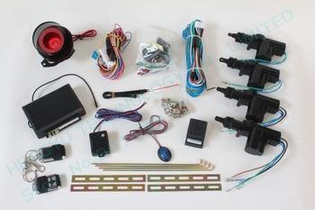 universal12V remote central door lock/2 master 2 slave car central lock system with 2 remote control one way car alarm system