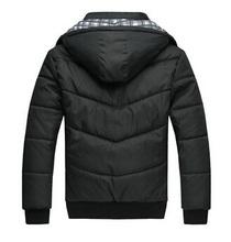 Winter Coat Men black puffer jacket warm fashion male overcoat parka outwear cotton padded hooded down