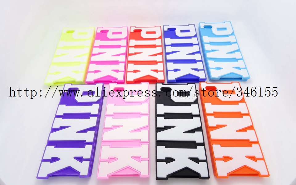 Hot Sales Victoria/'s Secret PINK 3D Letters Soft Silicone Case iphone 4 4s 4g 5 5s 5g Luxe Phone Skin Back Covers - Shen zhen HW (3C store Digital Accessories Company)