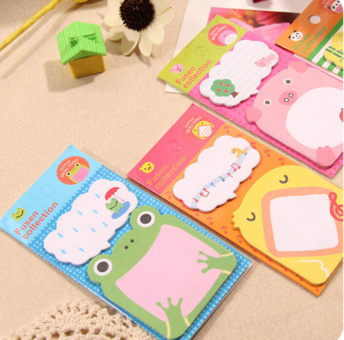 3PCS Cute Cartoon Animal Sticker Memo Post Bookmark Marker Memo Sticky Notes Frog Pig Panda Bird(China (Mainland))