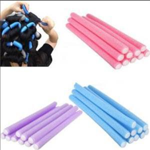 Practical 5Pcs Hair Styling Tool Soft Foam Rollers Tool DIY Easy Hair Rollers Soft Foam Anion Bendy Hair Rollers Curlers Cling(China (Mainland))