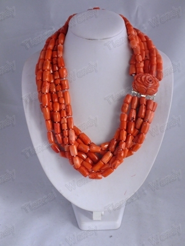 GN002 stone Coral Necklace 222