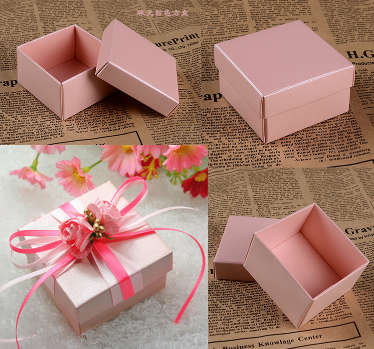 100pcs square candy box for wedding party decoration for Application box decoration
