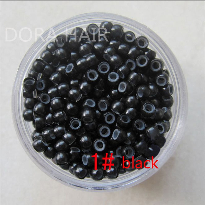 1000pcs silicone nano rings for nano tip hair extensions tools 3# dark brown<br><br>Aliexpress