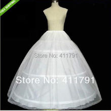 2016 Real Polyester Plus Size Tutu Skirt Crinoline New White 3-hoop 1-layer Petticoat/underskirt/slip Bridesmaid/wedding Dress