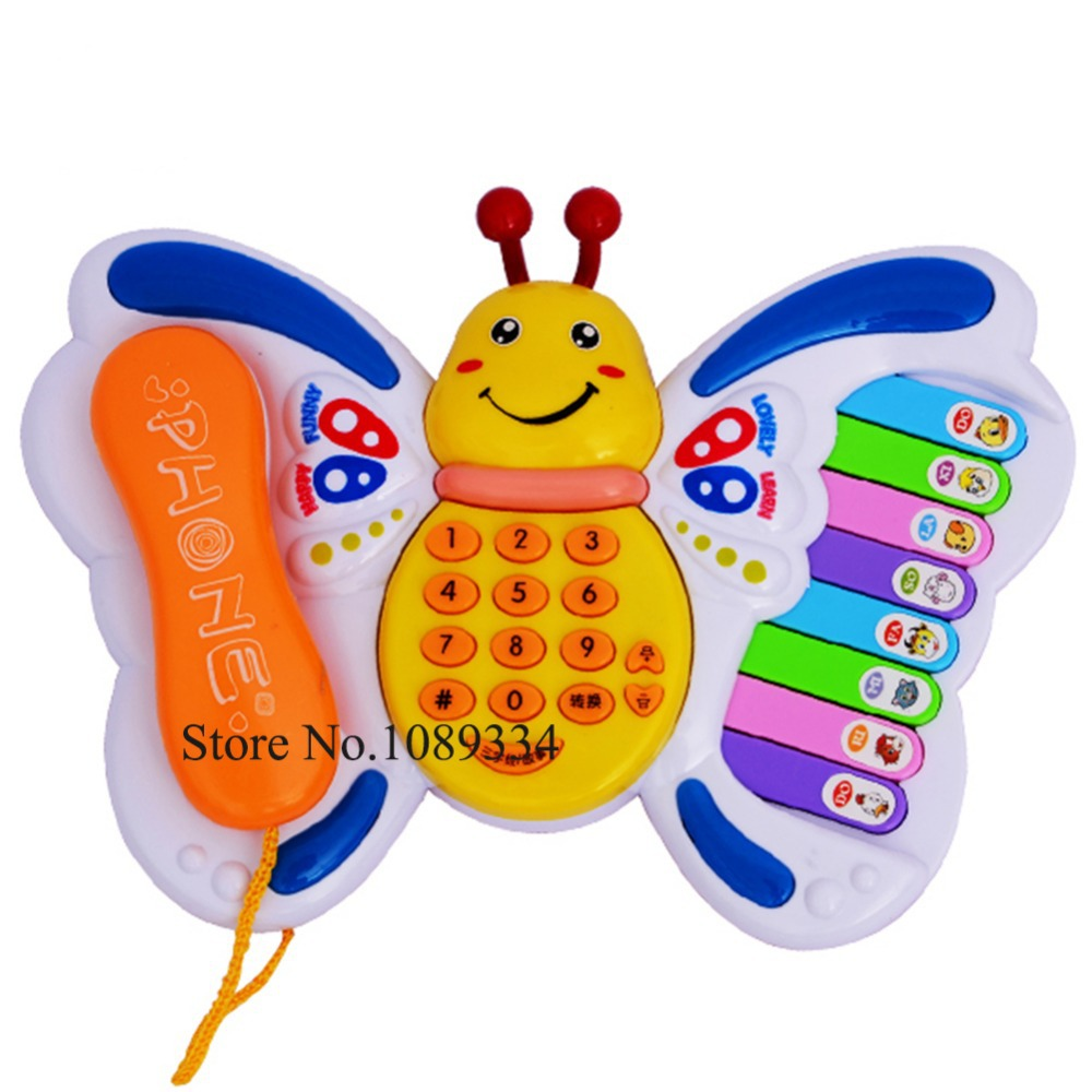 Brilliant Basics Chatter Telephone Baby Multi-functional Butterfly Phone Toy(China (Mainland))