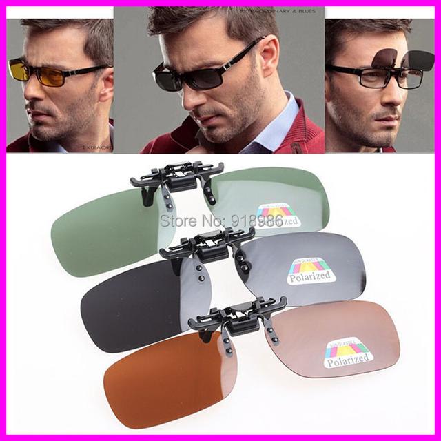 Мужчины вождения зажим солнечные очки поляризованные клип близорукость солнечные ...
