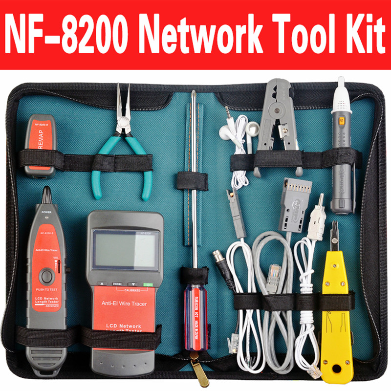 nf 8200set rj45 rj11 bnc usb lan network tool kit cable tester crimp crimper plug pliers in. Black Bedroom Furniture Sets. Home Design Ideas