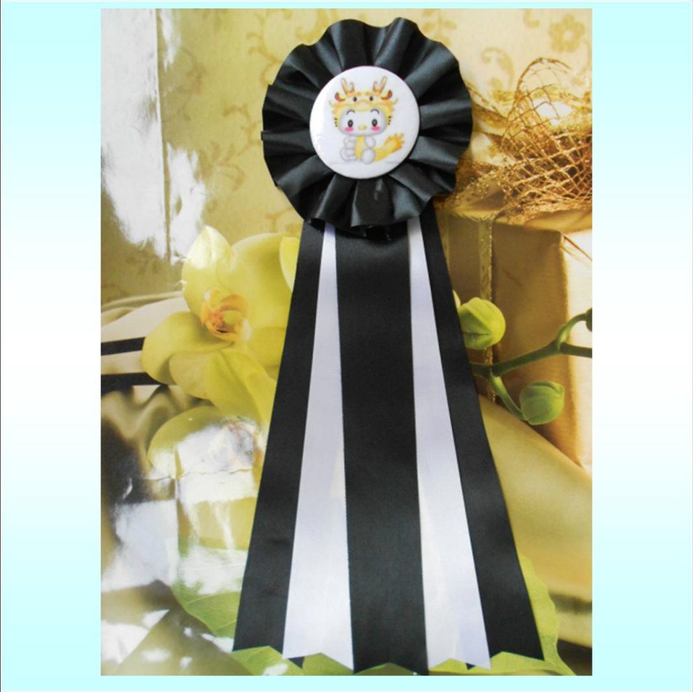 Baby Boy Ribbon Birthday Badge, Birthday Ribbon Pin Badge