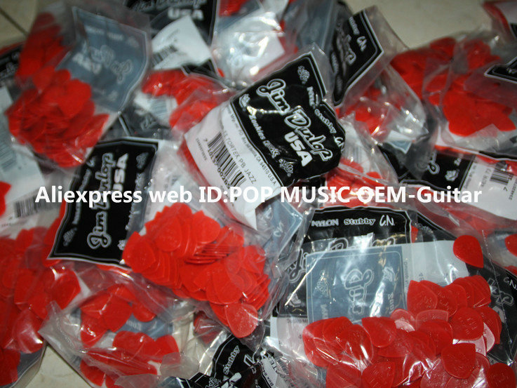 72 piece Guitar Picks Jazz III RED picks Wholesale From China Best free shipping(China (Mainland))